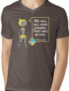 Pixel Orianna Mens V-Neck T-Shirt