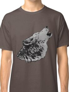 Howling Gray Wolf Classic T-Shirt
