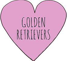 GOLDEN RETRIEVER LOVE by Bundjum