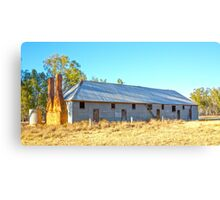Abandoned Shearer's Quarters...NSW Australia. Canvas Print