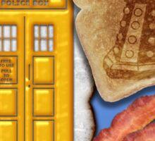 Whovian Breakfast Sticker