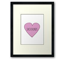 SAUSAGE DOG / DACHSHUND LOVE Framed Print