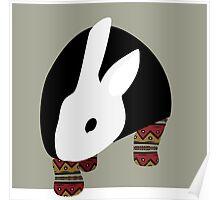 pattern rabbit Poster