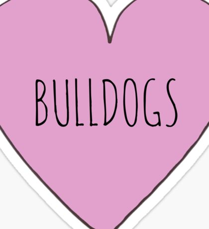 BULLDOG LOVE Sticker
