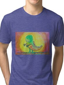 The World's Nicest Dinosaur Tri-blend T-Shirt