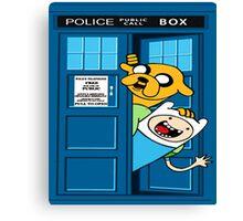 Adventure time police box Canvas Print