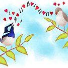 Adorable Blue Wren Birds Love Song by JumpingKangaroo