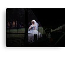 35mm Found Slide Composite - Bridal Train Canvas Print