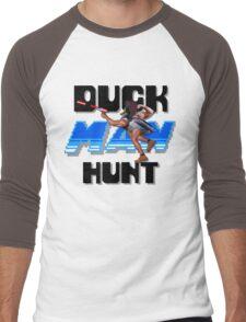 Duckman Hunt 8 Bit Retro Men's Baseball ¾ T-Shirt