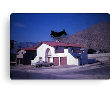 35mm Found Slide Composite - Dog House Canvas Print