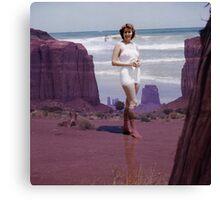 35mm Found Slide Composite - Monument Sally Canvas Print