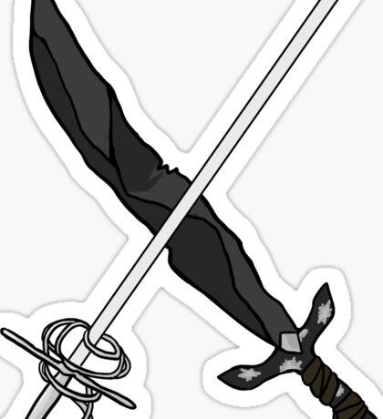 silverbell swords Sticker