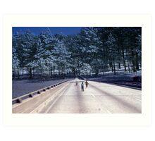35mm Found Slide Composite - Tree Bridge Art Print