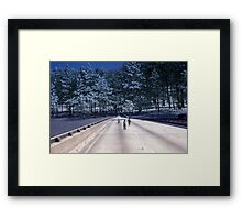 35mm Found Slide Composite - Tree Bridge Framed Print