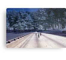 35mm Found Slide Composite - Tree Bridge Metal Print