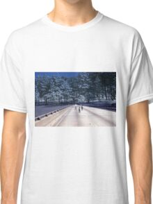 35mm Found Slide Composite - Tree Bridge Classic T-Shirt