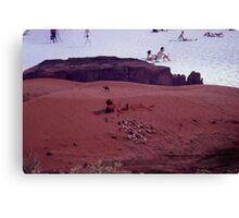 35mm Found Slide Composite - Desert Beach Canvas Print
