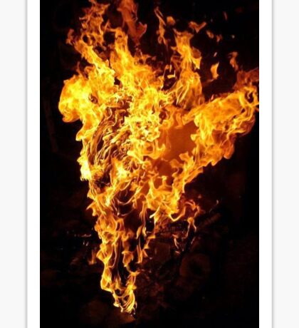 Heart of Fire Sticker