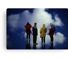 35mm Found Slide Composite - Cloud Quartet Canvas Print