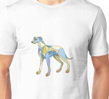 Greyhound Dog Side Mosaic Unisex T-Shirt