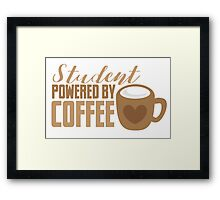 Student powered by coffee Framed Print