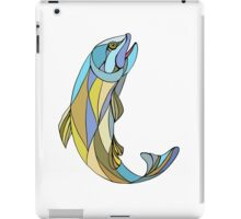 Trout Jumping Up Mosaic iPad Case/Skin