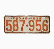 Bonnie & Clyde License Plate (detailed reconstruction) One Piece - Long Sleeve