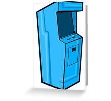 Arcade, Blue Greeting Card