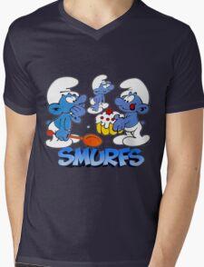 smurf Mens V-Neck T-Shirt