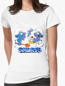 smurf Womens Fitted T-Shirt