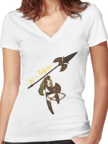 Smite - You is Rockstar! (Chibi) Women's Fitted V-Neck T-Shirt