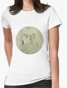 Gandalf Watercolour Womens Fitted T-Shirt
