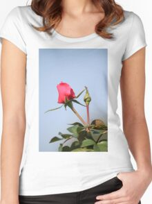 Valentine rosebud Women's Fitted Scoop T-Shirt