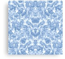Blue Floral Seamless Pattern Canvas Print