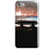 Water Takes over the Beach Bench iPhone Case/Skin