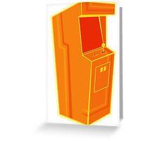 Arcade, Orange 2 Greeting Card