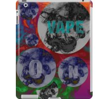 Psychedelic Vape On Clouds  iPad Case/Skin