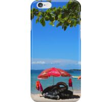 Chilling on Serendipity Beach, Cambodia iPhone Case/Skin
