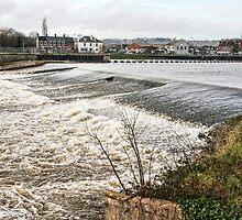 Trews Weir On A Wintery Day by Susie Peek
