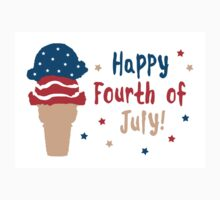 happy fourth of july ice cream Kids Tee