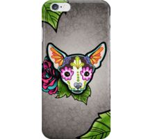 Day of the Dead Chihuahua in Moo Sugar Skull Dog iPhone Case/Skin