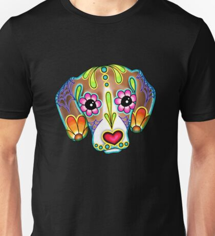 Day of the Dead Beagle Sugar Skull Dog Unisex T-Shirt