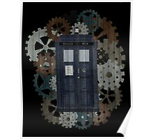Wooden TARDIS with Clockwork  Poster