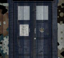 Wooden TARDIS with Clockwork  Sticker
