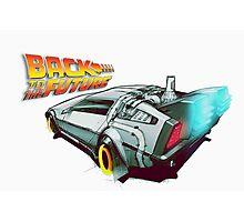 Back to the Future Delorean Poster Photographic Print