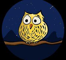 Cute owl at night by Richard Eijkenbroek