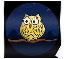 Cute owl at night Poster