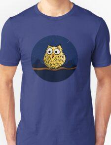 Cute owl at night Unisex T-Shirt