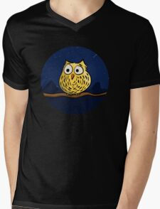 Cute owl at night Mens V-Neck T-Shirt