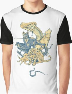 Metal Gear - Animals Characters Graphic T-Shirt